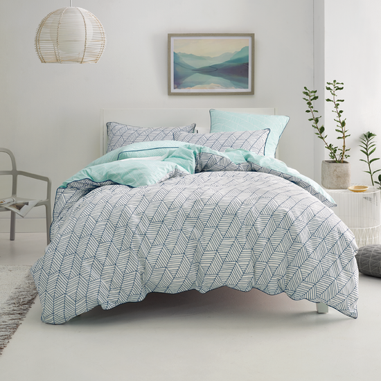 Linen House (Direct) - (Single/Super Single) Loft 3-pc Duvet Cover Set - Navy