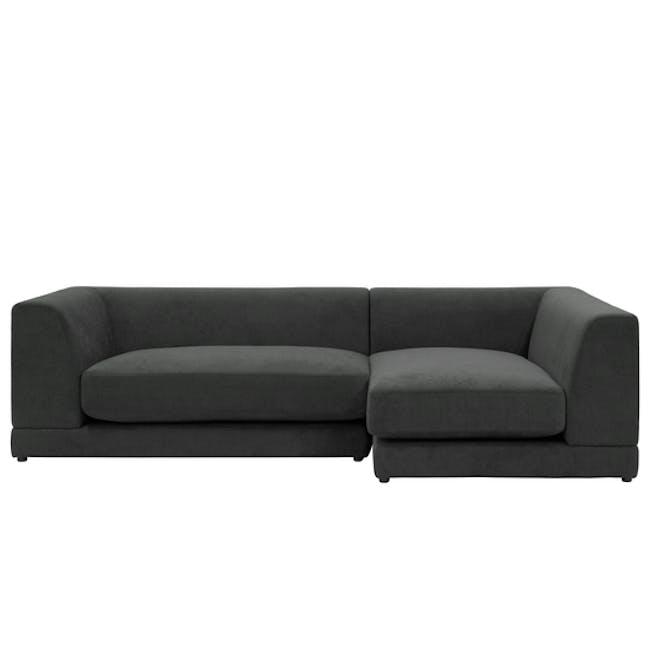 Abby L-Shaped Lounge Sofa - Granite - 0