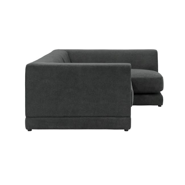 Abby L-Shaped Lounge Sofa - Granite - 3