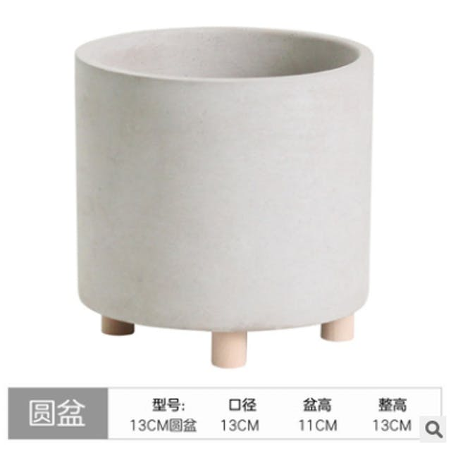 Mona Round Concrete Planter with Legs - Large - 2