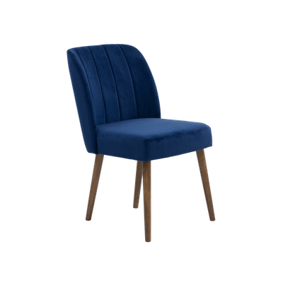 Russell Velvet Dining Chair - Royal Blue - Image 2