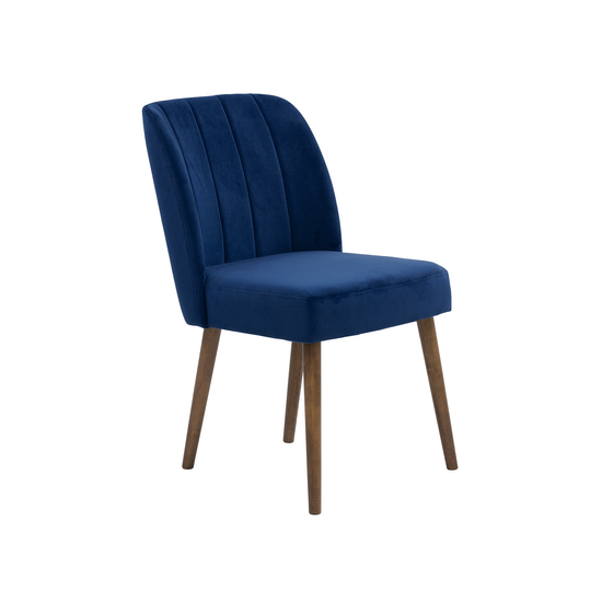 Russell Dining Chair - Cocoa, Royal Blue (Velvet), Dining ...