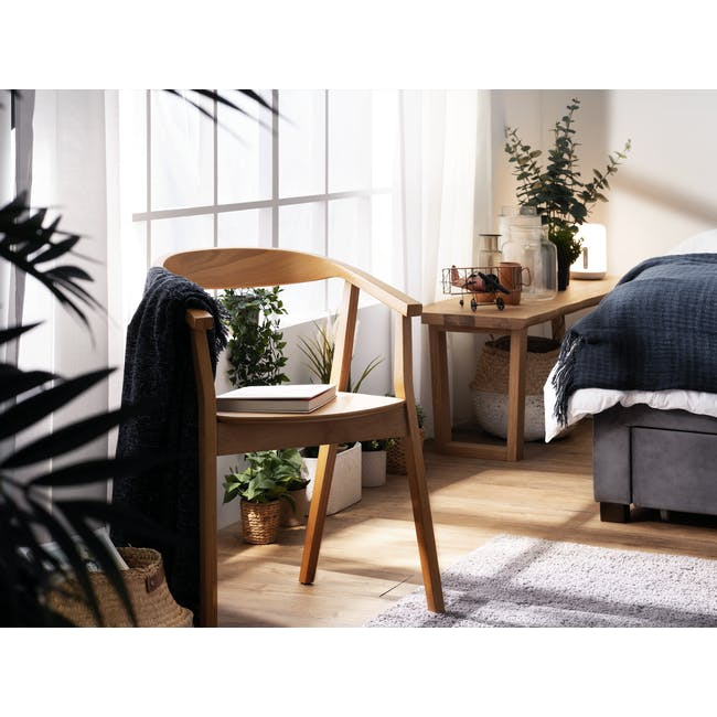 Tyrus Dining Table 2m with 4 Greta Chairs in Black and Natural - 9