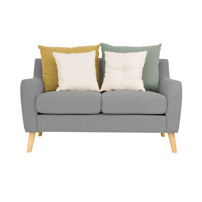 Evan 2 Seater Sofa with Evan Armchair - Slate - 1