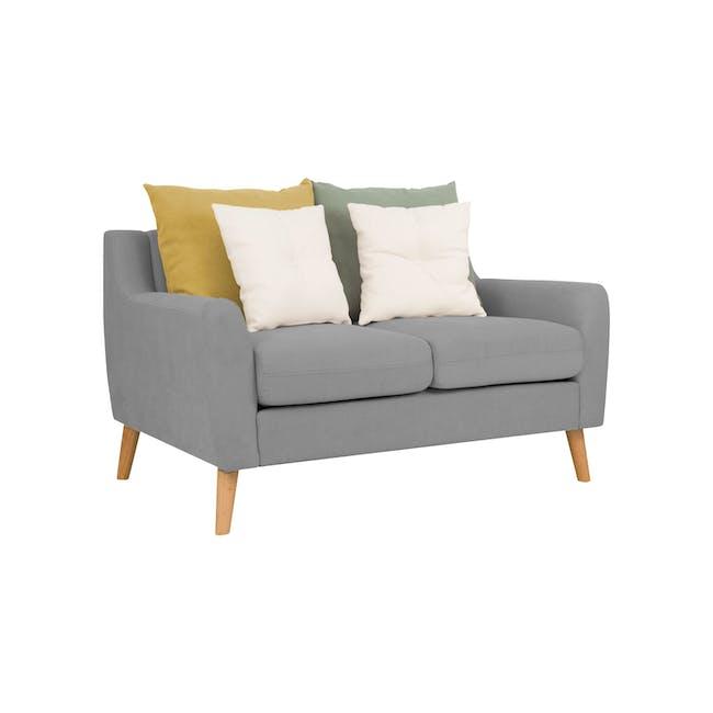 Evan 2 Seater Sofa with Evan Armchair - Slate - 2