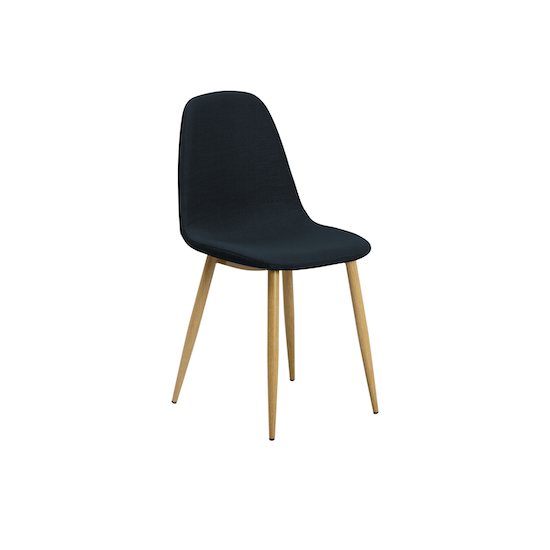 Glass and Metal - Fynn Dining Chair - Brushed Walnut, Black