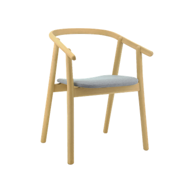 Glen Dining Chair - Oak, Squirrel Grey - Image 1