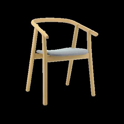 Glen Dining Chair - Oak, Squirrel Grey - Image 1