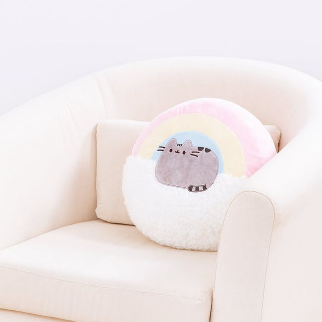 Pusheen Rainbow Pillow - 13 Inches - 1
