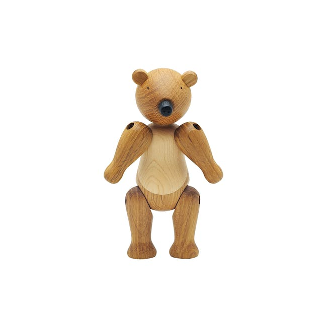 Ollie the Bear - Maple and Oak Wood Sculpture - 0