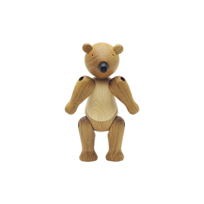 Ollie the Bear - Maple and Oak Wood Sculpture - Image 2