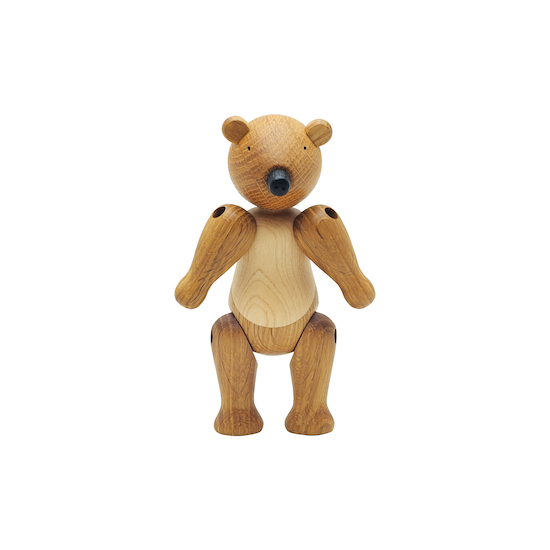 Helga - Ollie the Bear - Maple and Oak Wood Sculpture