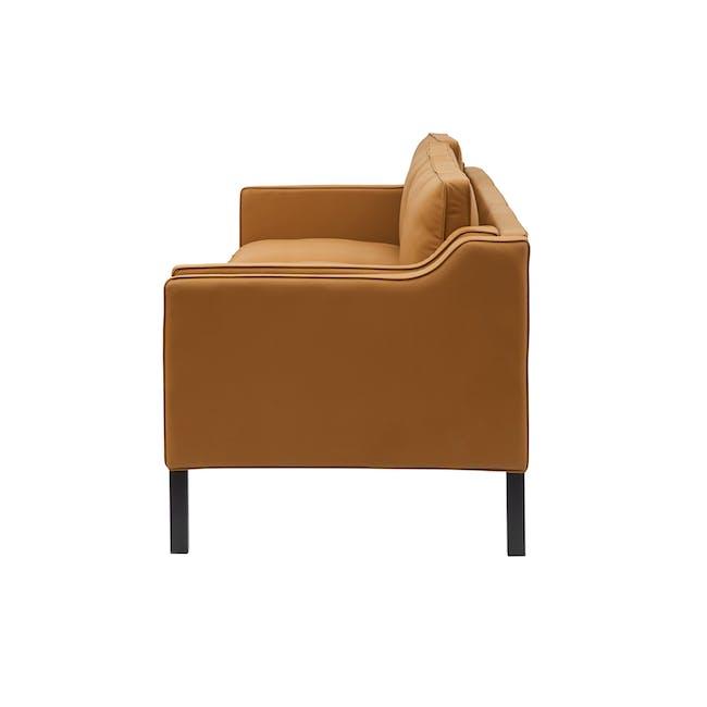 Borge Mogensen 2213 3 Seater Sofa Replica - Tan (Genuine Cowhide) - 2
