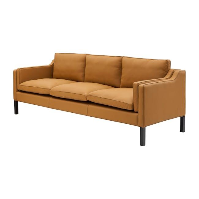 Borge Mogensen 2213 3 Seater Sofa Replica - Tan (Genuine Cowhide) - 1