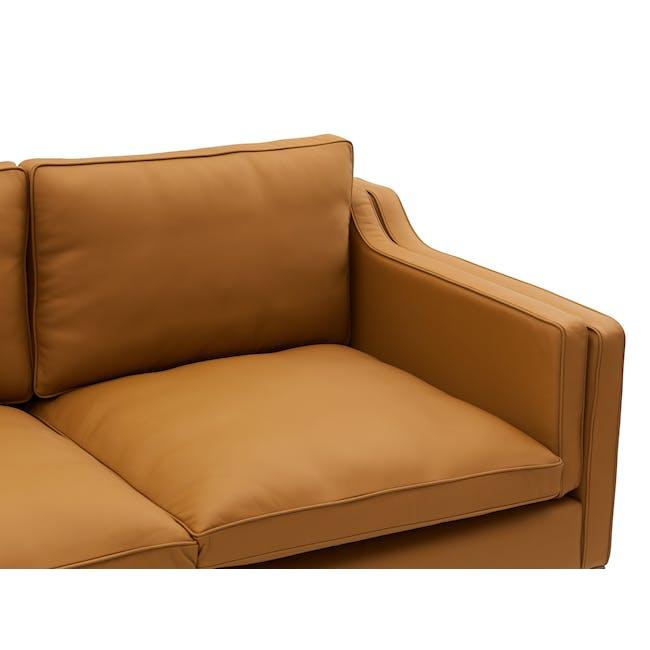Borge Mogensen 2213 3 Seater Sofa Replica - Tan (Genuine Cowhide) - 5