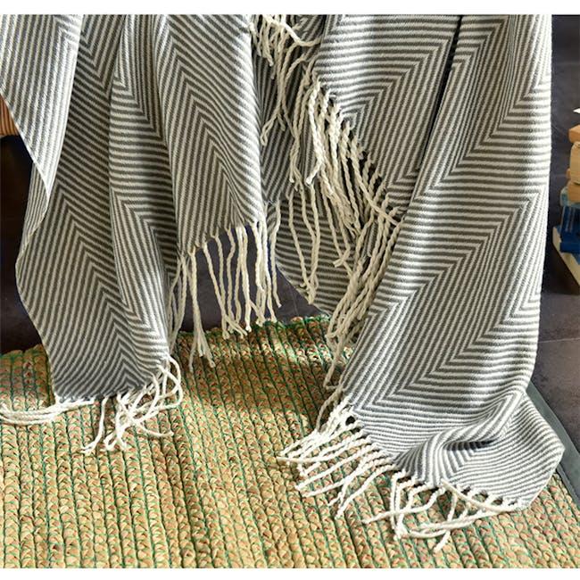 Jordie Stripe Throw - Grey - 4