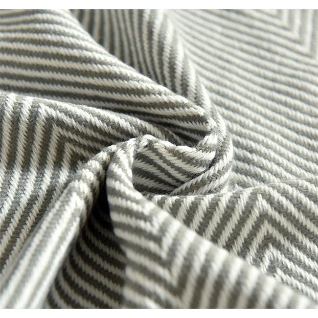 Jordie Stripe Throw - Grey - 2