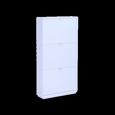 Quen 3 Door Shoe Cabinet - White - Image 1