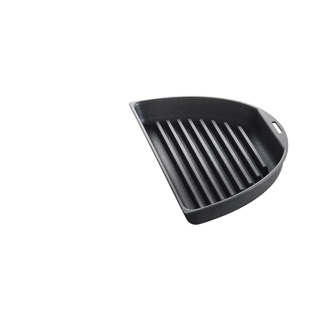 BRUNO Oval Half Grill and Flat Plates - 2
