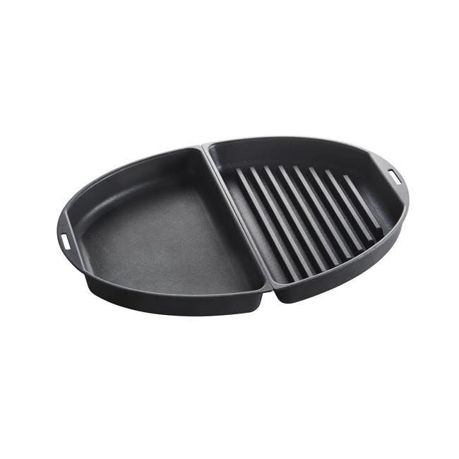 BRUNO Oval Half Grill and Flat Plates - 0