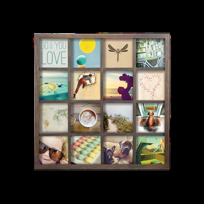 Gridart Multi Photo Display - Aged Walnut - Image 2