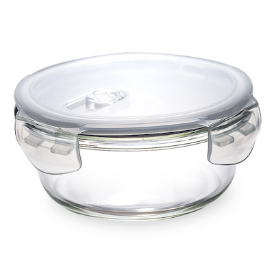 PICNIC Round Glass Food Storage with Lid - 950 ml - Image 1