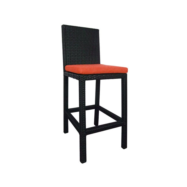 Midas 2 Chair Bar Set - Orange Cushion - 1