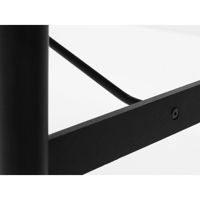 Fleming Oval Dining Table 1.8m - White, Black - 4