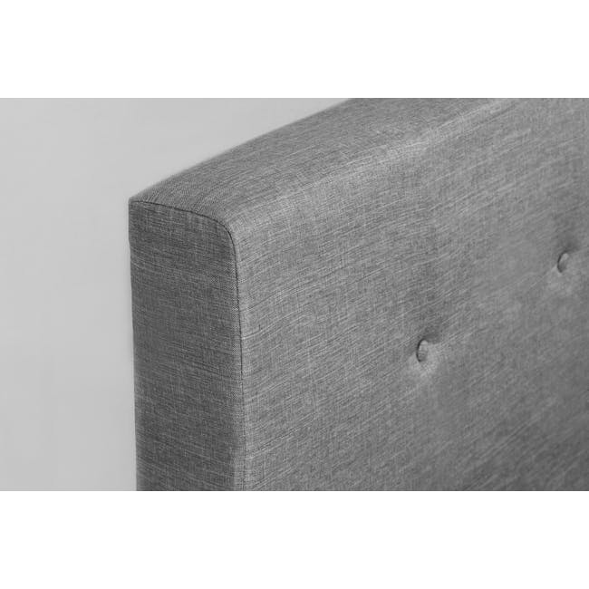 ESSENTIALS King Headboard Box Bed - Grey (Fabric) - 5