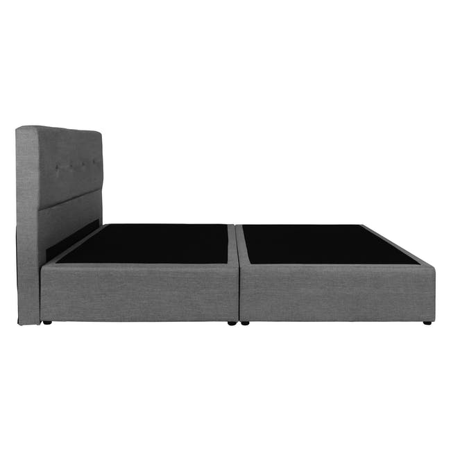 ESSENTIALS Super Single Headboard Box Bed - Grey (Fabric) - 2