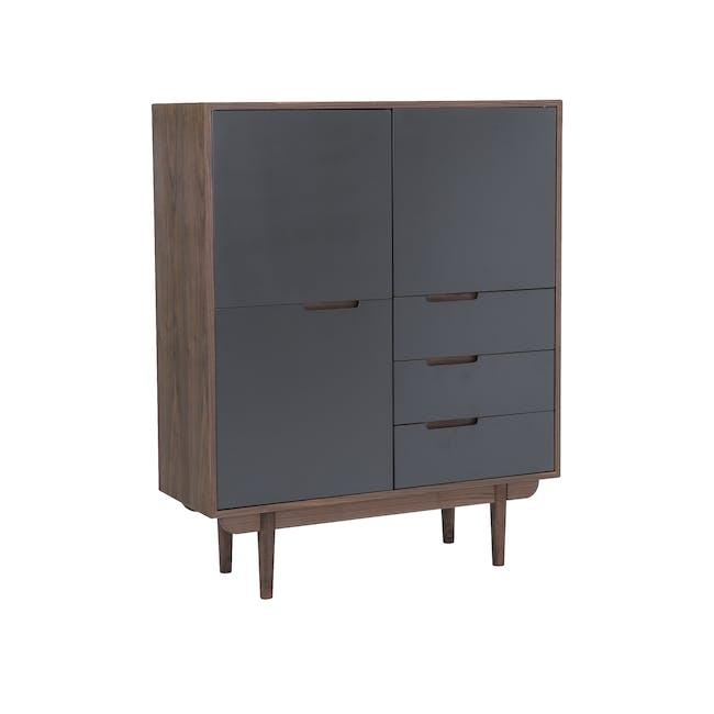 Larisa Tall Sideboard 1.1m - Walnut, Grey - 3