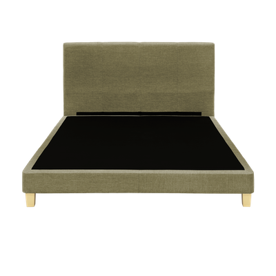 ESSENTIALS Headboard Bed - Khaki (Fabric) - 4 Sizes - Image 1