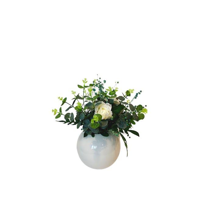 Large Floral Glass Globe - Design 3 - 0