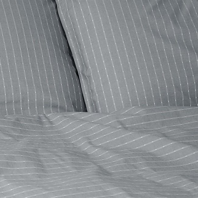 Canningvale Sleep Easy Linea Quilt Cover Set - French Grey (2 Sizes) - 1