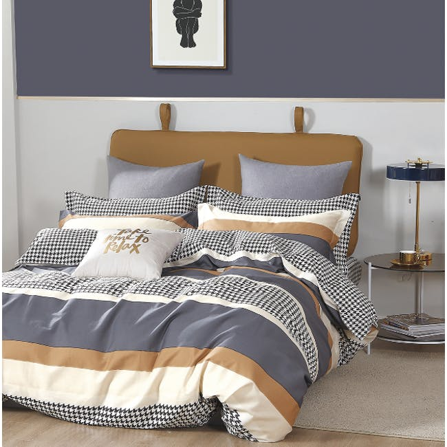 Garfton 4-pc Bedding Set (2 Sizes) - 0