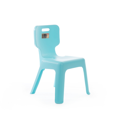 Sturdy Kids Chair with Backrest - Pastel Blue - Image 1