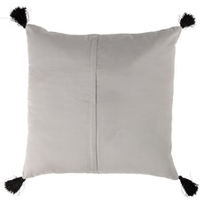 Tassel Hello Cushion - Grey