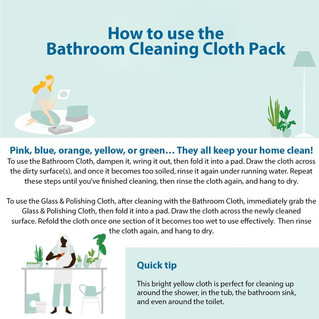 e-cloth Bathroom Eco Cleaning Cloth Pack (Set of 2) - 5