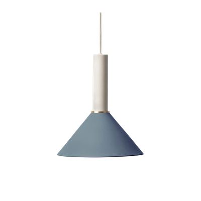 Chloe Pendant Lamp - Light Grey, Dark Blue - Image 1