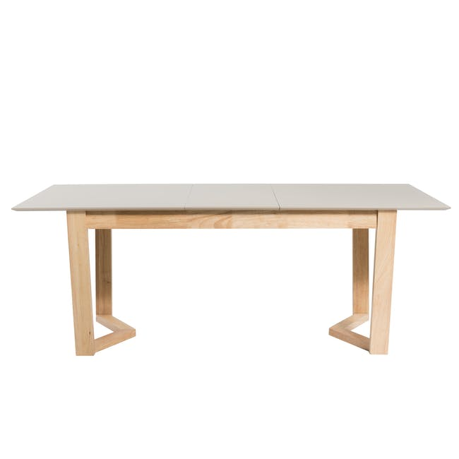Meera Extendable Dining Table 1.6m - Natural, Taupe Grey - 12