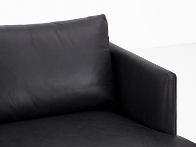 Duster L Shape Sofa - Charcoal (Premium Leather) - Image 2