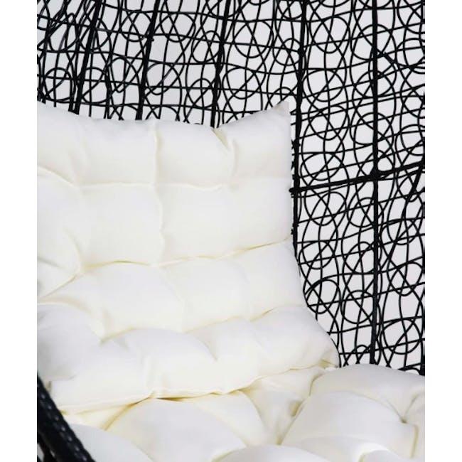 Black Cocoon Swing Chair - White Cushion - 1