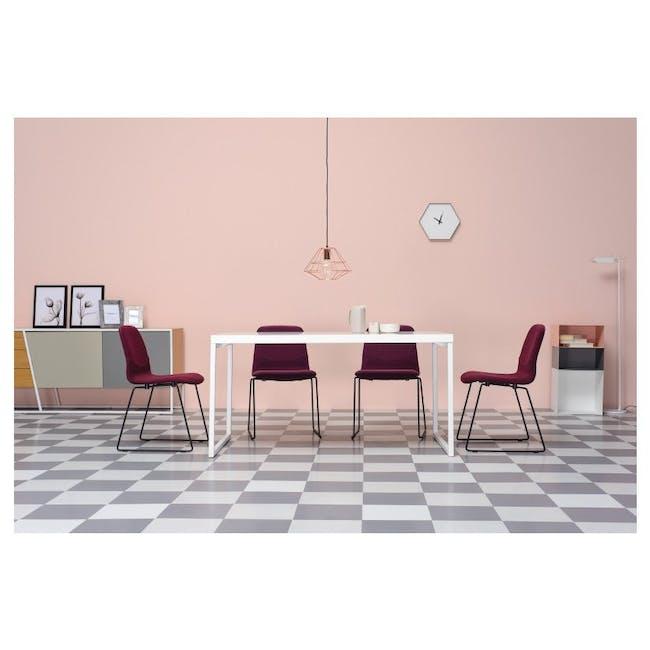 Bianca Dining Chair - Matt Black, Tangerine - 1