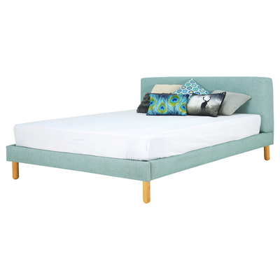 Zeus Queen Bed - Sea Green - Image 1