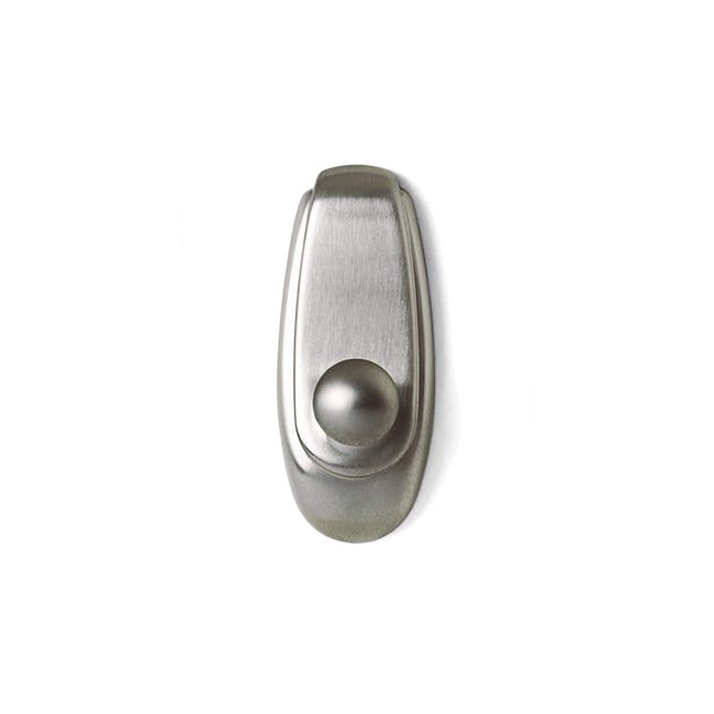 Command™ Timeless Hook - Brushed Nickel (2 Sizes) - 0