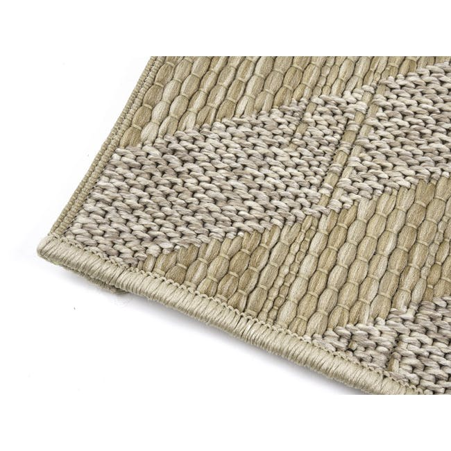 Mira Flatwoven Rug 2.9m x 2m  - Brown Lines - 3