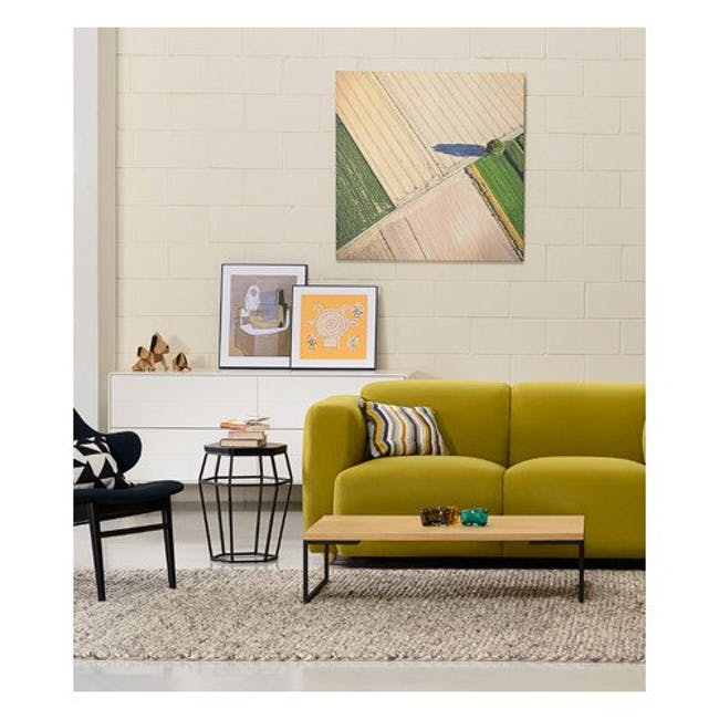 Myron Rectangle Coffee Table - Oak, Matt Silver - 3