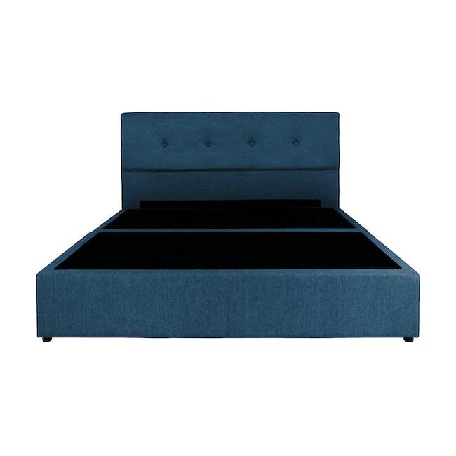 ESSENTIALS Queen Headboard Box Bed - Denim (Fabric) - 1