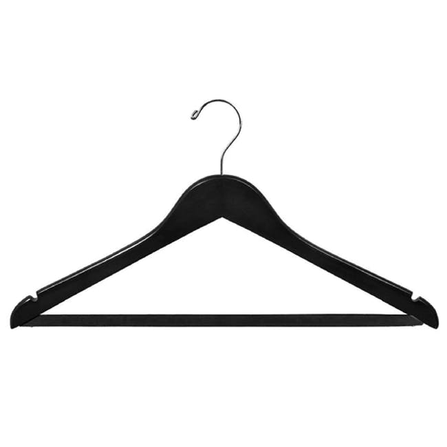Wooden Hangers (Set of 10) - Black - 0