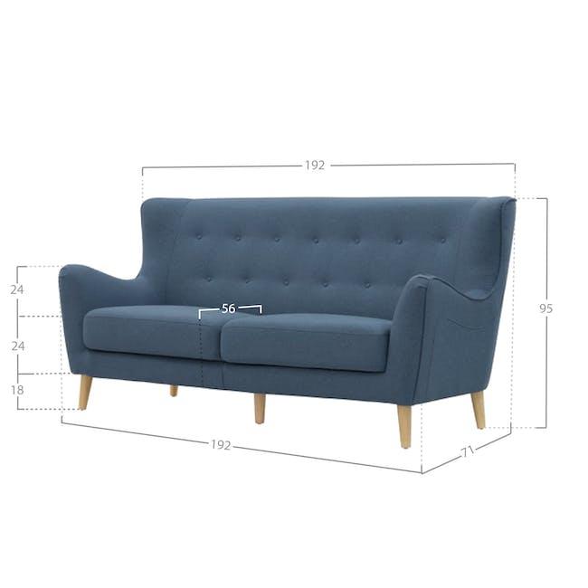 Jacob 3 Seater Sofa - Denim - 2
